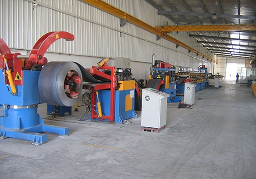 High-speed guardrail continuous production line