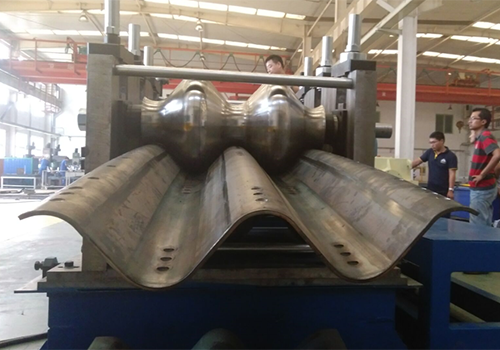 Culvert corrugated board production line